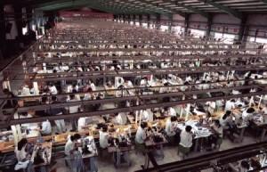 Maquiladoras-fabrikk I USA, langs grensa til Mexico.
