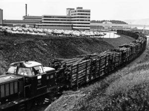 Bildet, som er fra 1980, er fra Skogn