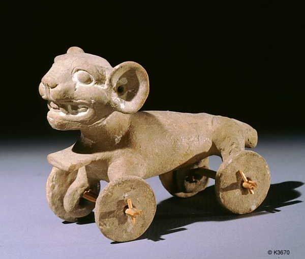 Før oppdagelsene brukte amerikaneren hjulet bare i leketøy
